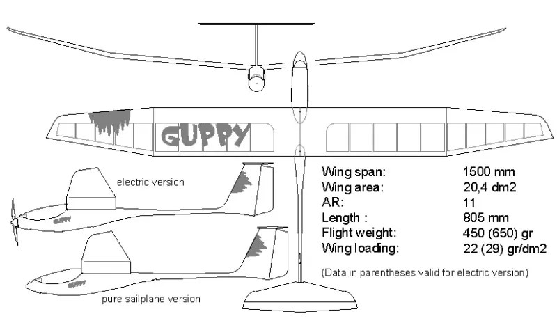 schematics for balsa wood glider