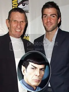 Leonared Nimoy and Zachary Quinto