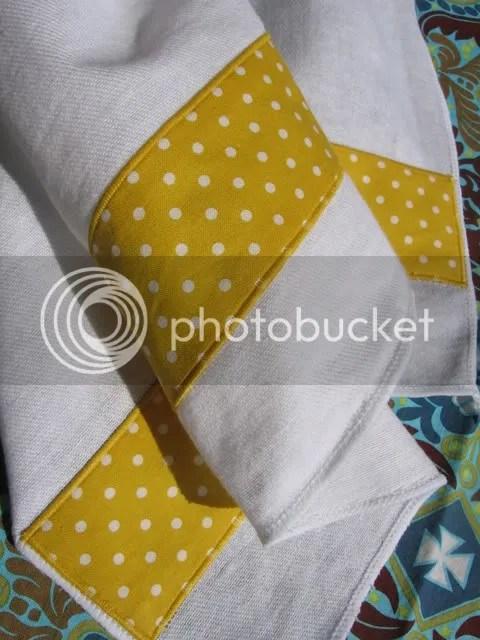 yellow burp cloth