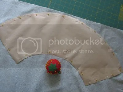 pin pattern to fabric