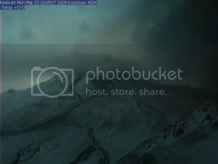 AVO Redoubt Hut webcam, 23 March 2009 20-05-27