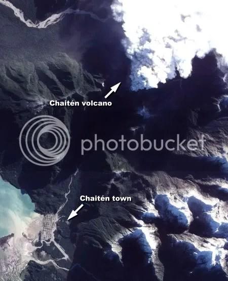 Overview of the Chaitén area