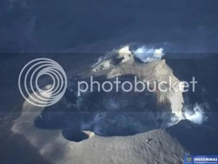 Galeras - image from INGEOMINAS/FAC overflight, 14 November 2009 (copyright INGEOMINAS)