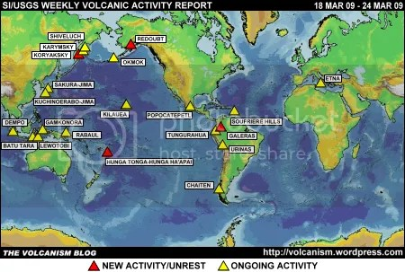 SI/USGS Weekly Volcanic Activity Report 18 March 2009 - 24 March 2009