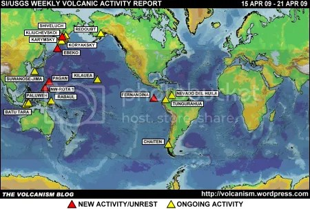 SI/USGS Weekly Volcanic Activity Report 15 April 2009 - 21 April 2009