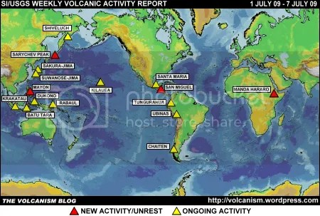 SI/USGS Weekly Volcanic Activity Report 1-7 July 2009