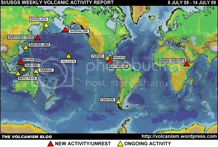 SI/USGS Weekly Volcanic Activity Report 8-14 July 2009