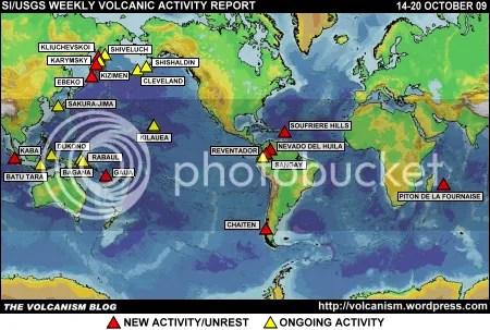 SI/USGS Weekly Volcanic Activity Report 14-20 October 2009