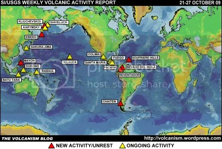 SI/USGS Weekly Volcanic Activity Report 21-27 October 2009