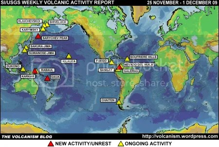SI/USGS Weekly Volcanic Activity Report 25 November - 1 December 2009