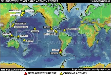 SI/USGS Weekly Volcanic Activity Report 2-8 December 2009