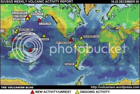 SI/USGS Weekly Volcanic Activity Report 16-22 December 2009