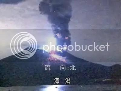 Sakura-jima eruption, 8 February 2010 (Kago-net)