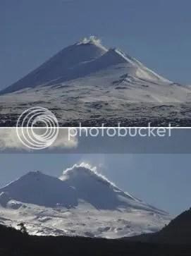 Laima volcano, 1 September 2009 (photographs by Victor Hazeldine)
