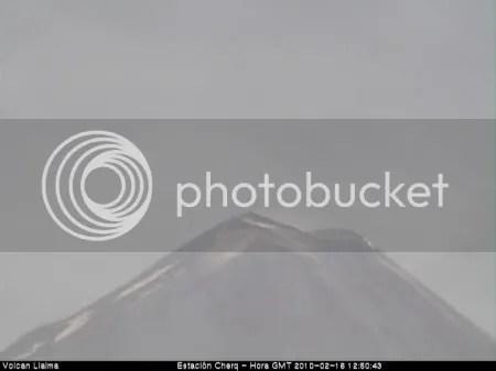 Llaima volcano 16 February 2010 (OVDAS Cherquenco webcam)