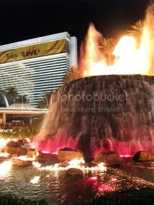Artificial volcano at the Mirage Hotel, Las Vegas. Flickr image from temptingmamma's photostream, Creative Commons licensed.
