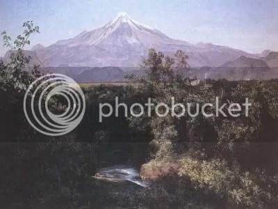 José Maria Velasco, 'Volcán de Orizaba desde la hacienda de San Miguelito' (1892)
