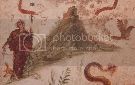 Vesuvius: Roman wall painting from the House of the Centenary, Pompeii (1st century BC/1st century AD)
