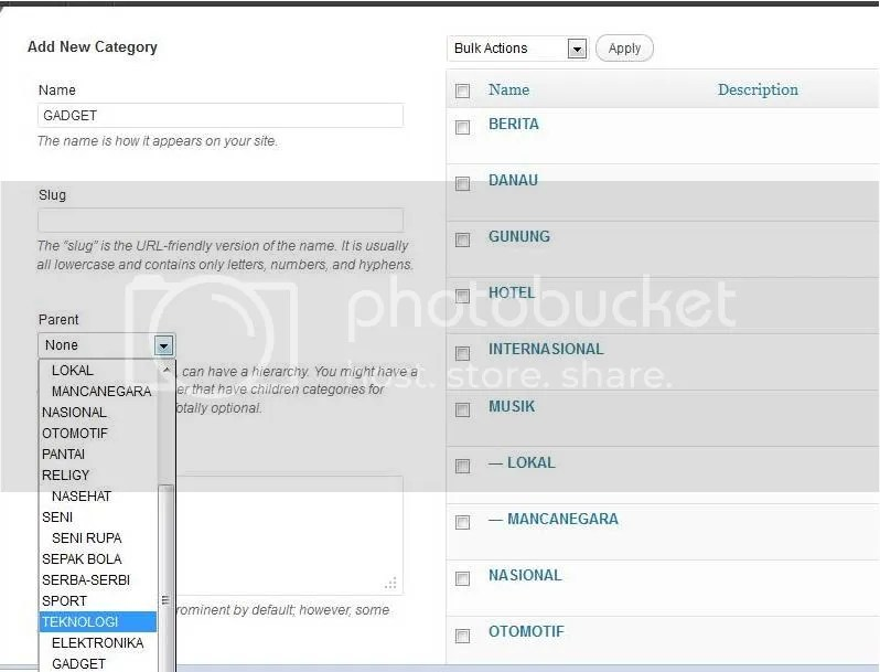 submenublog Cara Membuat Menu Dan Submenu pada Blog WordPress