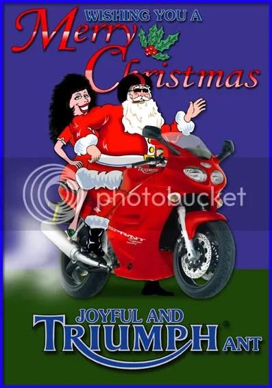 RED ST MERRY CHRISTMAS CARD Triumph Forum Triumph Rat