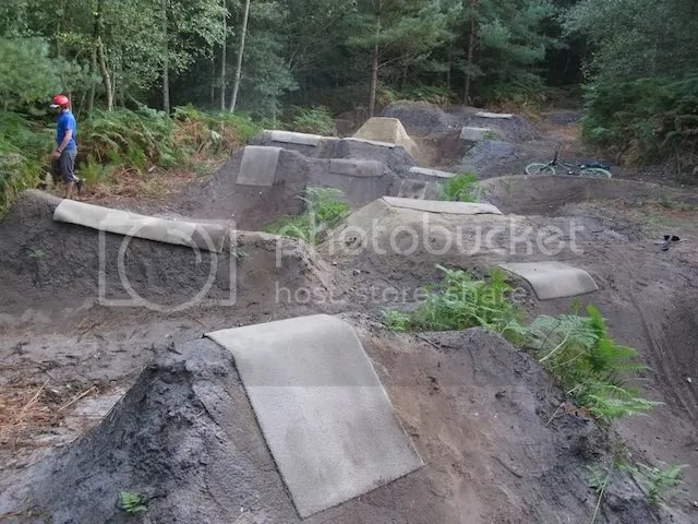 An overview: you can see how the jumps are starting to look a bit battered. NEED MORE RAIN. NEED MORE SAND/CLAY.