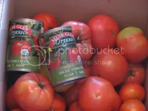 Box of Tomatoes--Fresh and Canned