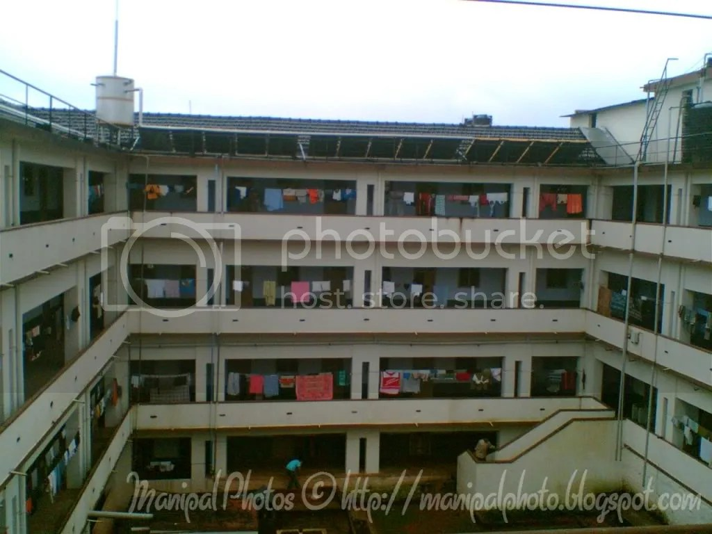 Manipal Institute of Technology Hostel Photo; Boys underwear hung out to dry