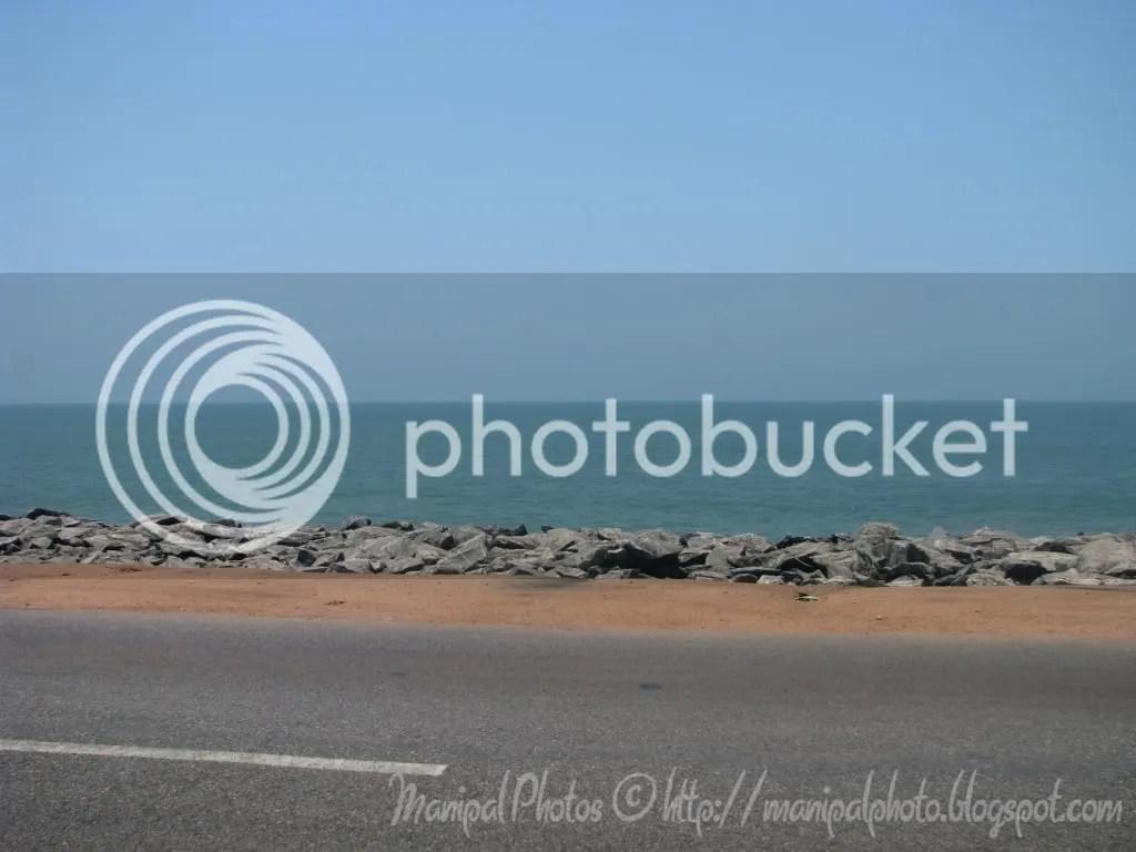 NH17 hugs the Arabian Sea Coast near Marvanthe