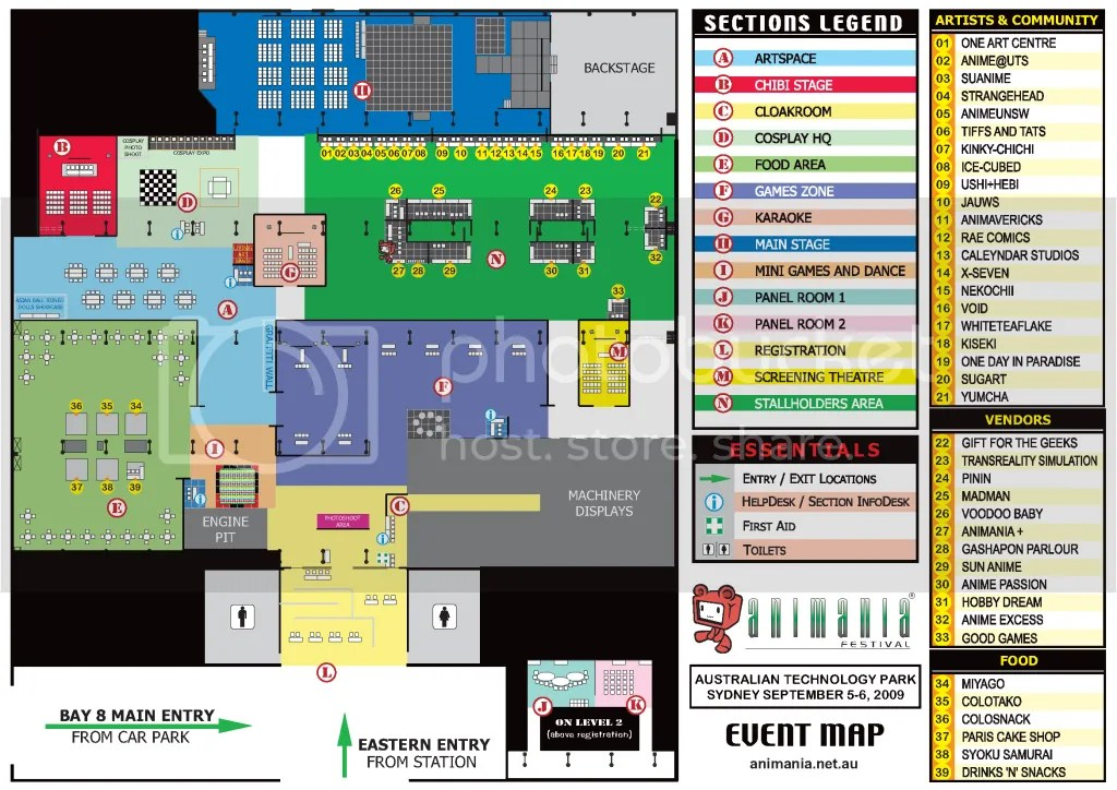 Animania 2009 Sydney weekend floor plan