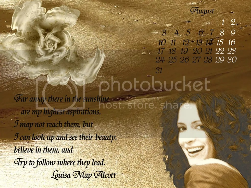 Paget Brewster - Calendar August 2009