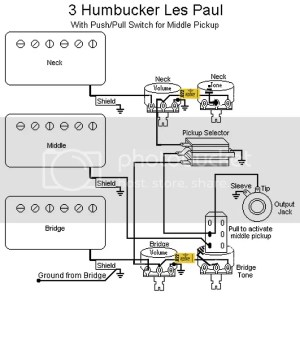 3 Humbucker Les Paul Wiring Question