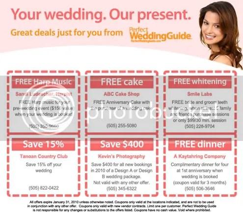 Albuquerque Printable Wedding Coupons
