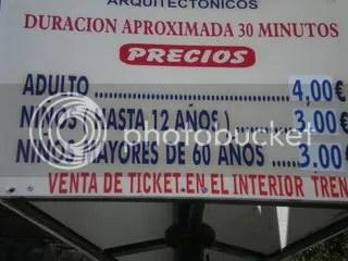 Entradas para el Tren Tur�stico de Ávila