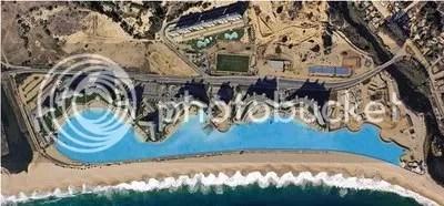 San Alfonso del Mar tampak dari foto satelit