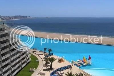 Pemandangan dari kamar salah satu resort