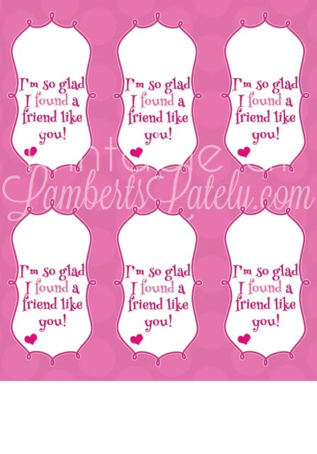 Free printable for a compass Valentine for class/school friends - gender-neutral