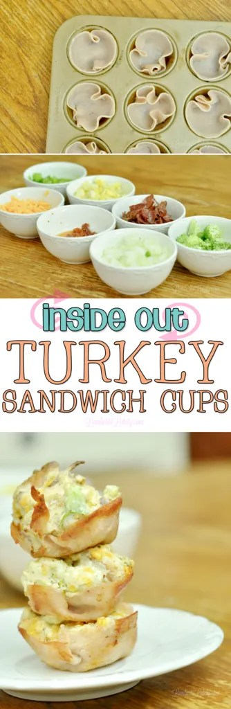 Inside Out Turkey Sandwich Cups || Hormel Natural Choice Turkey Salami || Vegetable Lunch for Kids || Baked Cheese Deli Meat Snack
