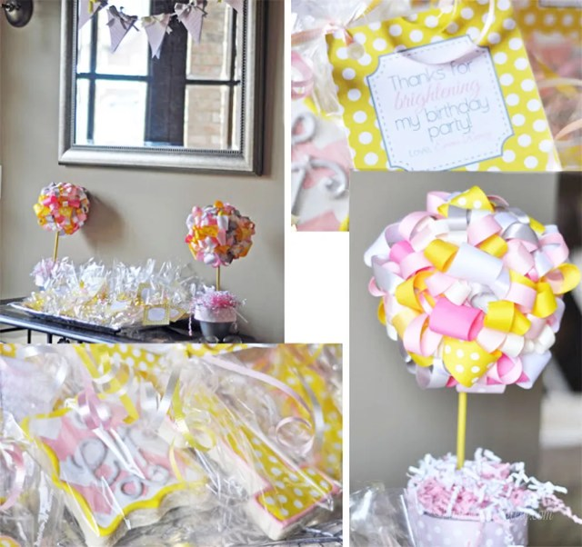 You Are My Sunshine First Birthday Party for Girls || Pink Yellow Gray || Printable Ideas || Food Table Menu || Drink Table || Decor Decorations  || Theme Ideas