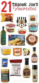 All of these things are on the list of my top Trader Joe's favorites - combination of snacks, frozen foods, fresh items, and staples. Great variety of items from the popular grocery store!