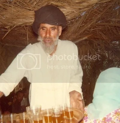 The Sheik serves tea. From Puerto de la Cruz and the Spanish Sahara, The Doglady's Den