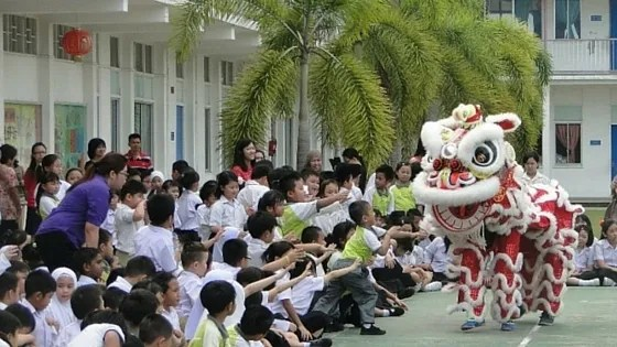 Lion Dance, Chap Goh Mei 2016, Chinese New Year 2016, Imlek 2016, Chinese School, Brunei, Seria