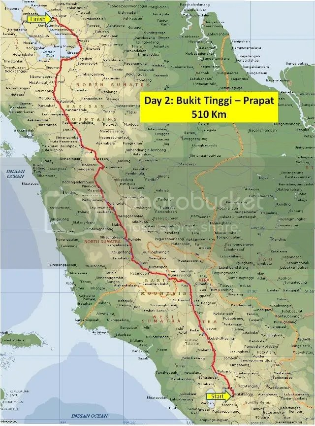 Day 2 Route Map Bukit Tinggi-Prapat