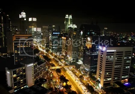 Sudirman Street in the evening