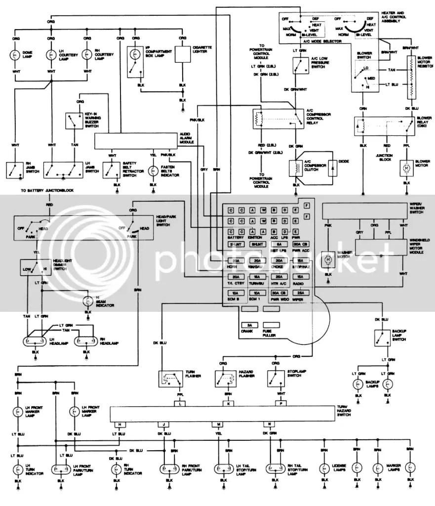 Chevrolet K5 Blazer Transmission Tcc Solenoid Wiring