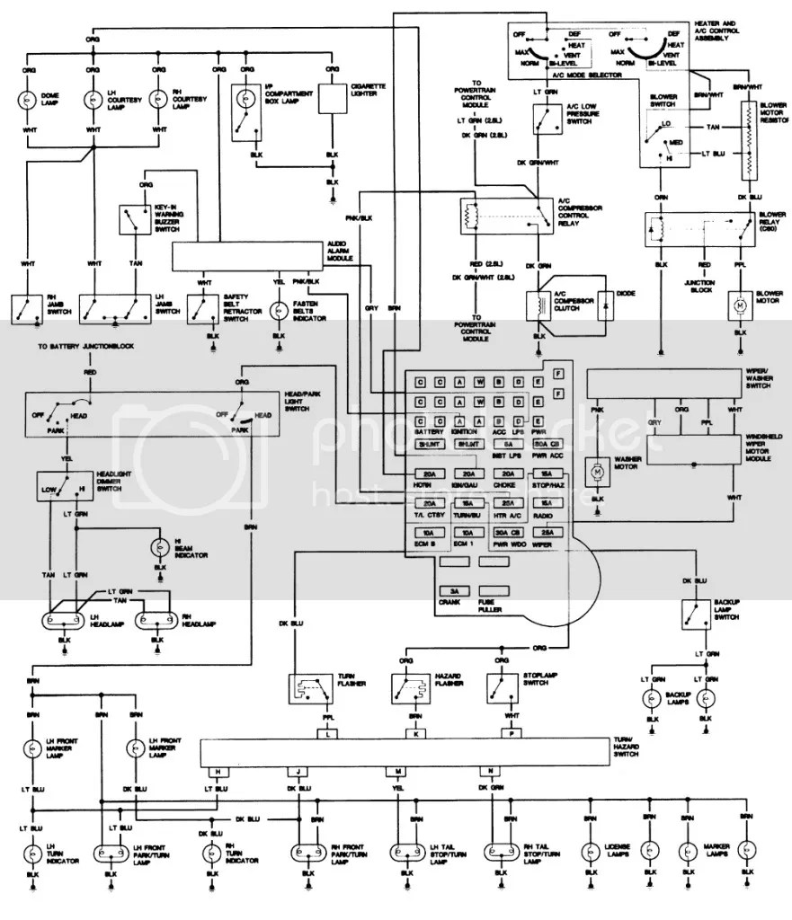 1984 700r4 wiring diagram
