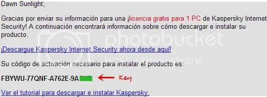 Kaspersky Internet Security 2011: Key bản quyền 1 năm
