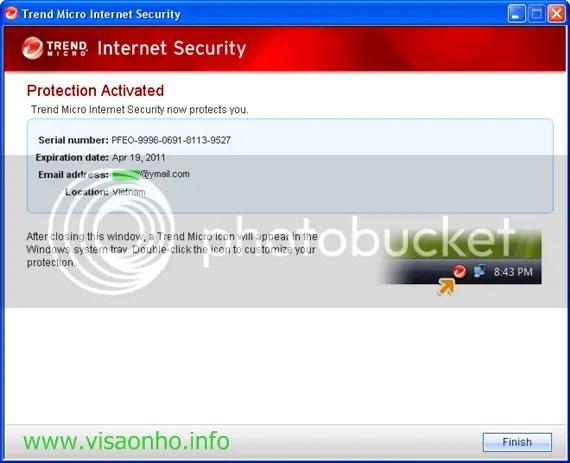 Trend Micro Internet Security 2010 miễn phí 1 năm