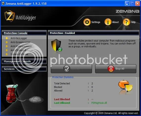 Sử dụng  Zemana AntiLogger v1.9 miễn phí 90 ngày