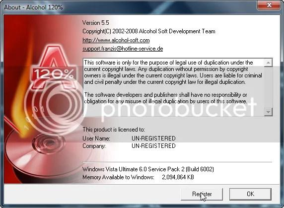 Download Alcohol 120% v5.5 với key bản quyền miễn phí