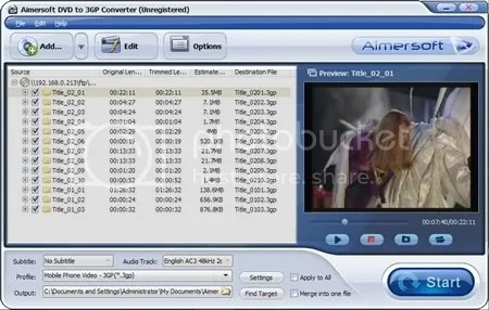 Download Aimersoft DVD to 3GP Converter miễn phí